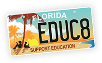 EDUC8 - Florida License to Learn License Plate